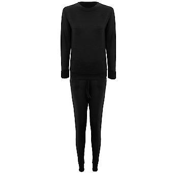 Pianura Ladies tuta Stretch manica lunga Lounge indossare tuta da Jogging 2 pezzo