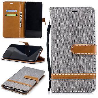 Huawei P20 الهاتف حالة واقية حالة حالة غطاء علبة حاوية Etuis محفظة رمادي