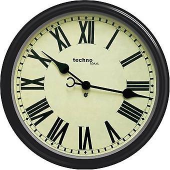 Techno Line WT 7050 Quartz muur klok 50 x 13 cm zwart