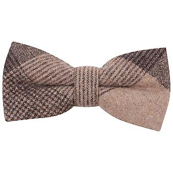 Knightsbridge Neckwear cocher grand noeud papillon - noir/Beige