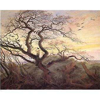 Tree with Crows Tumulus, Caspar David Friedrich, 59x74cm