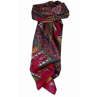 Rosa de Aimee amoreira seda tradicional lenço quadrado por Pashmina & seda
