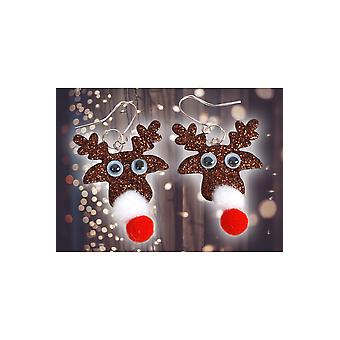Juwelen en kronen kerst oorbellen