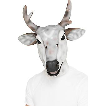 Reindeer/Stag Latex Mask, One Size