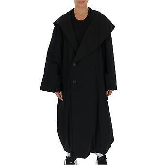 Yohji Yamamoto Fvc20813 Women's Black Wool Coat