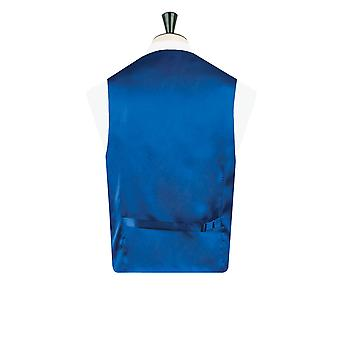 Dobell garçons bleu Royal Dupion gilet ajustement régulier