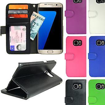 Brieftasche Fall Samsung Galaxy S7 EDGE mit ID/Foto Tasche 4pcs Karte