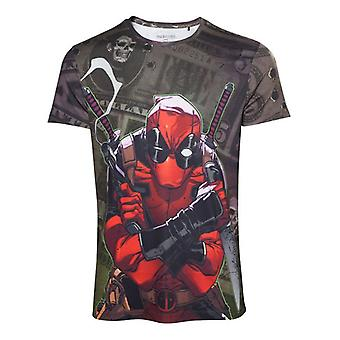 Mens Marvel Comics Deadpool Dollar Bills T-Shirt XL (TS000011DEA-XL)