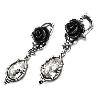 Alchemy Gothic Bacchanal Rose Pewter Drop Ohrringe