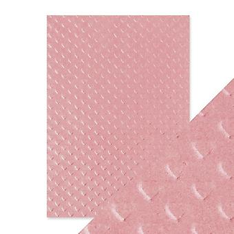 Craft Perfect by Tonic Studios Hand Crafted Cotton Papers Blush Heart | Pack of 5