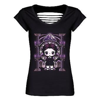 Mio Moon Ladies/Womens Miss Addams Razor Back T-Shirt