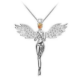 Guardian Angel kristallen hanger ketting bericht Gift Card