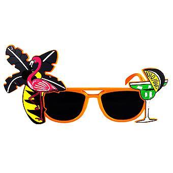 Henbrandt Adult Novelty Flamingo Dark Lens Sunglasses