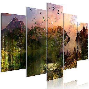 Canvas Print - Bear in the Mountain (5 Parts) Wide
