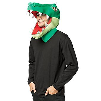 Adult Alligator Head Halloween Fancy Dress Costume Accessory