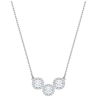 Swarovski Sparkling Dance Trilogy Necklace - White - Rhodium Plating