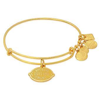 Alex i Ani kiedy życie daje Ci cytryny bransoletka bransoletka - błyszczące złoto - CBD18WLLSG