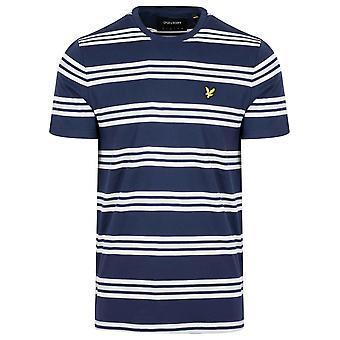 Lyle & Scott  Navy & White Striped T-Shirt