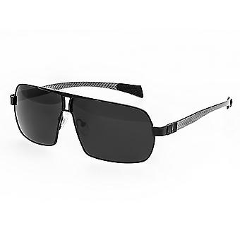 Breed Sagittarius Titanium Polarized Sunglasses - Black/Black