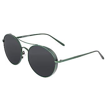Breed Barlow Titanium Polarized Sunglasses - Green/Black