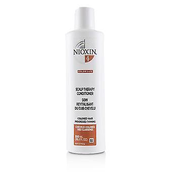 Nioxin densidade sistema 4 couro cabeludo terapia condicionador (cabelos coloridos, progrediu adelgaçantes, cor segura) 300ml/10,1 oz