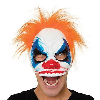 Bristol Novelty Unisex Adults Clown Half Face Mask With Hair