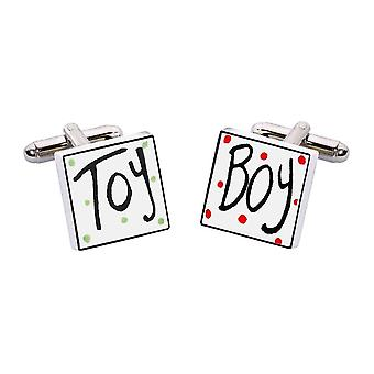 Toy Boy Cufflinks by Sonia Spencer, in Presentation Gift Box. Hand painted