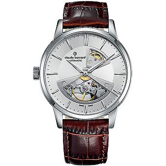 Claude bernard sophisticateds Swiss Automatic Analog Man Watch with Cowskin Bracelet 85017 3 AIN2