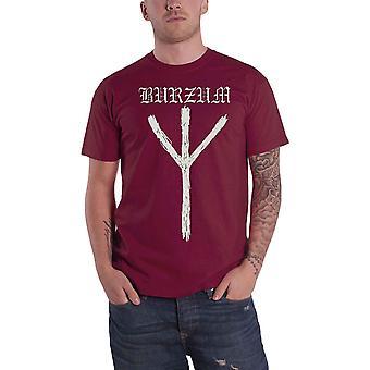 Burzum T Shirt Rune Band Logo new Official Mens Maroon