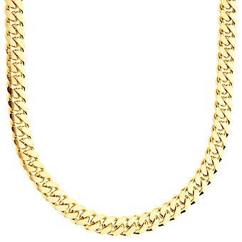 Sterling 925 silver tank chain - MIAMI CUBAN 6mm gold