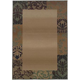 Genesis 2060y beige/green indoor area rug rectangle 6'7