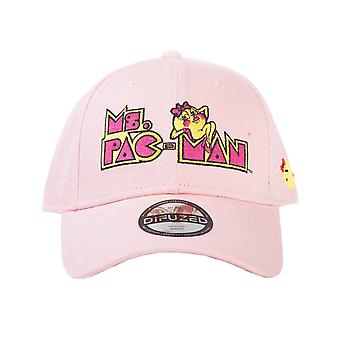 Ms Pac Man Baseball Cap Vintage Logo new Official Pink Strapback