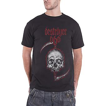 Destroyer 666 T Shirt Skull band logo new Official Mens Black