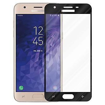 Cadorabo Full Screen Tank Foil for Samsung Galaxy J3 2018 - Tempered Display Protective Glass in 9H Hardness with 3D Touch Compatibility