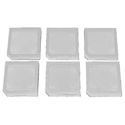 Single game card case holder for nintendo 3ds, 2ds, dsi & ds lite - 6 pack clear