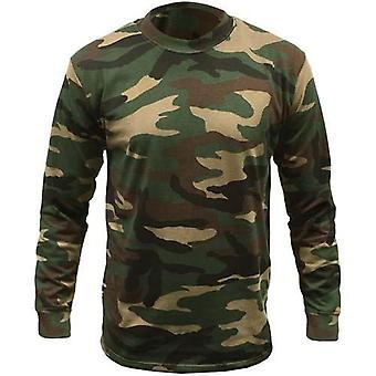 Spel bos camouflage lange mouw T-shirt