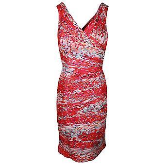 Ronald Joyce Multi Print Sleeveless Chiffon Dress