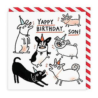 oh Deer Yappy Birthday Son Square Card