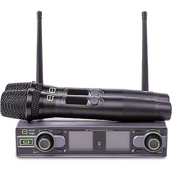 Q-audio Q-audio Qwm1950hh Dual UHF håndholdt system-Ch70