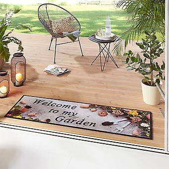 Washable Kitchen Runner Welcome To My Colorful Garden Colorful 50x150 cm
