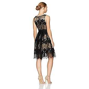 Tahari by Arthur S. Levine Women's Petite Size Sleeveless Fit and Flare Lace ...