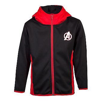 Marvel Avengers logo Teq full lengde glidelås hettegenser barn unisex 134/140