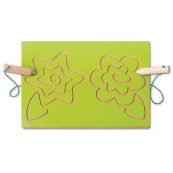 Double Handed Tracking Board - Flowers Sensory Development Educational