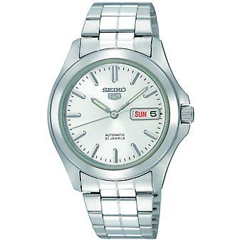 セイコー 5 自動ホワイト ダイヤル ステンレス メンズ腕時計 SNKK87K1
