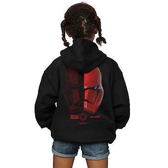 Star Wars Girls The Rise Of Skywalker Sith Trooper Helmet Icon Zip Up Hoodie