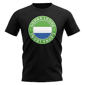 Sierra Leone voetbal badge T-shirt (zwart)