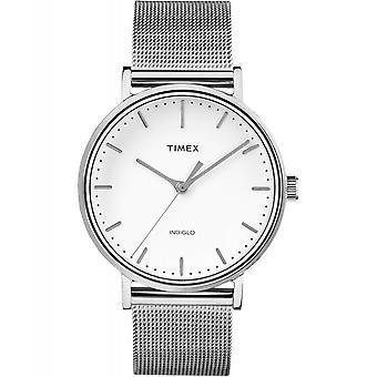 Timex TW2R26600 Fairfield Silver Tone Mesh Wristwatch