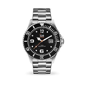 آيس ووتش-ساعة اليد-016032-الجليد الصلب-الفضة السوداء-كبيرة-ح 3