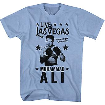 American Classics Muhammad Ali Live In Vegas T-Shirt - Light Blue Heather