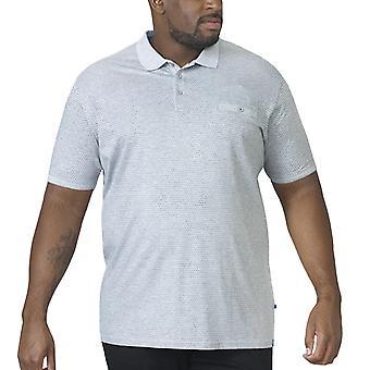 D555 Mens Elijah Big Tall King Size Short Sleeve Casual Cotton Polo Shirt - Grey